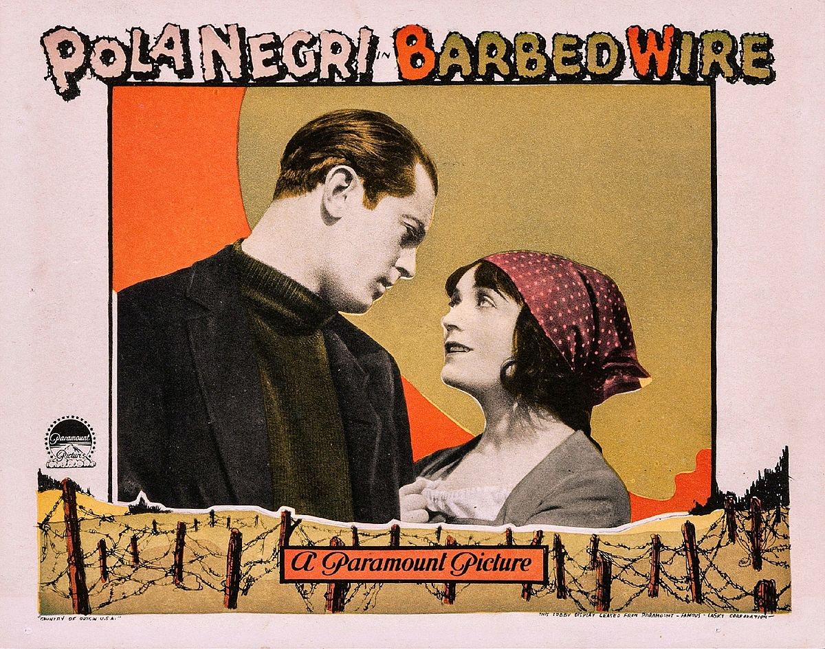 barbed wire lobby card A